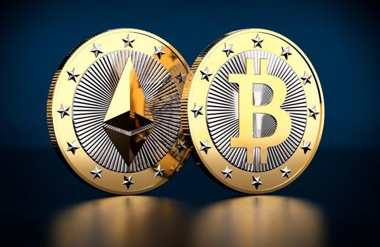 Ethereum et Bitcoin.
