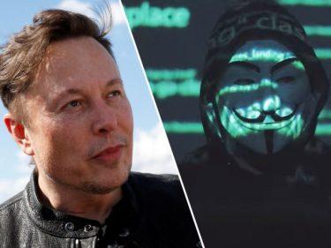 Anonymous s'en prend à Elon Musk.