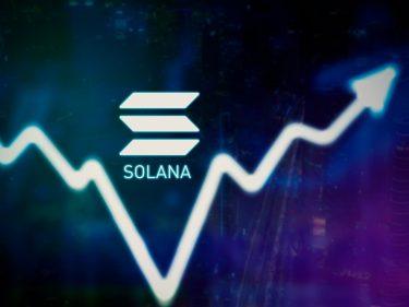 Le cours du Solana (SOL).