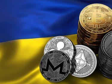 Ukraine et cryptomonnaies.