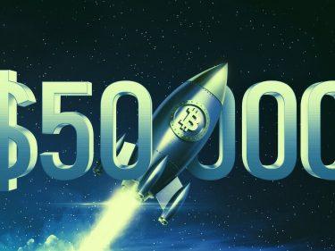 Bitcoin dépasse les 50 000 dollars.